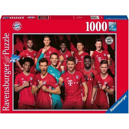 Ravensburger Puzzle »FC Bayern Saison 20/21«, 1000 Puzzleteile, Made in Germany, FSC® - schützt Wald - weltweit