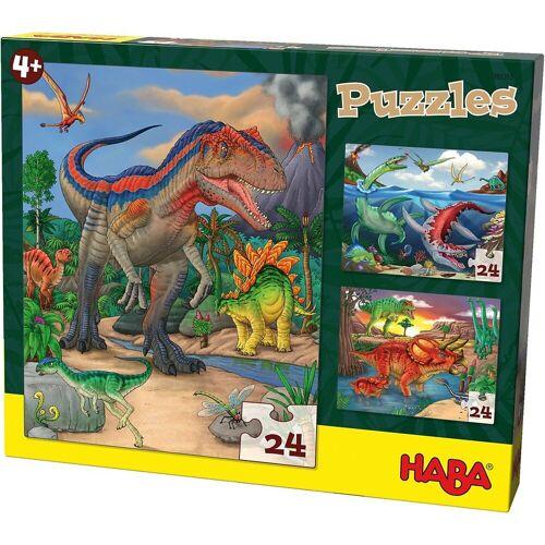 Haba Puzzle »303377 Puzzles - 3 x 24 Teile - Dinosaurier«, Puzzleteile