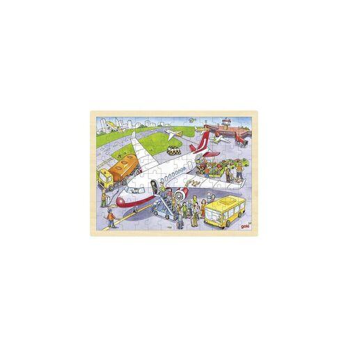 goki Puzzle »Holzpuzzle 96 Teile Auf dem Flughafen«, Puzzleteile