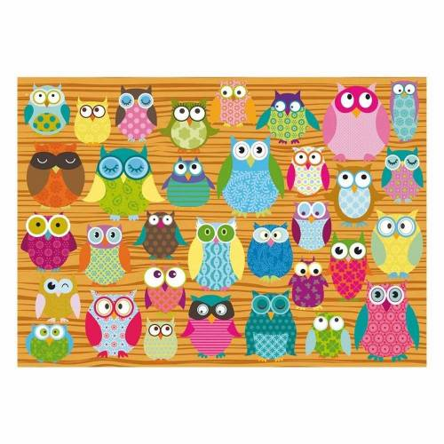 Schmidt Spiele Puzzle »Eulen-Collage«, 500 Puzzleteile