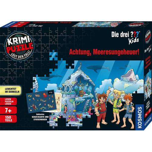 Kosmos Puzzle »Krimipuzzle Die drei ??? Kids Achtung, Meeresungeheuer!«, 150 Puzzleteile, Made in Germany