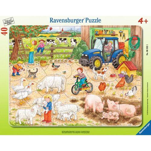 Ravensburger Rahmenpuzzle »Auf Dem Großen Bauernhof - Rahmenpuzzle«, 40 Puzzleteile