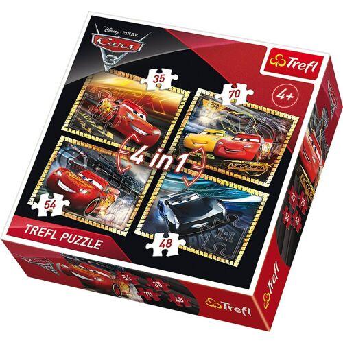 Trefl Puzzle »Puzzles 4in1 - 35/48/54/70 Teile - Cars 3«, Puzzleteile