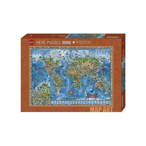 HEYE Puzzle »Puzzle Amazing World, 2000 Teile«, Puzzleteile