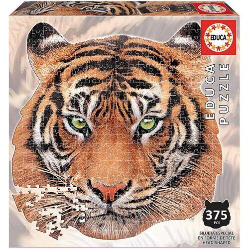 Educa Puzzle »Shape Puzzle Tiger face, 400 Teile«, Puzzleteile