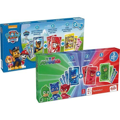 ASS Spiel, »3 in 1 Spieleboxen - PAW Patrol und PJ Masks«