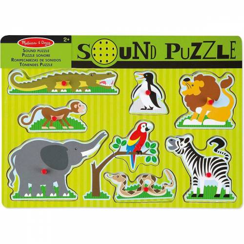Melissa & Doug Puzzle »Soundpuzzle aus Holz - Zootiere, 8 Teile«, Puzzleteile
