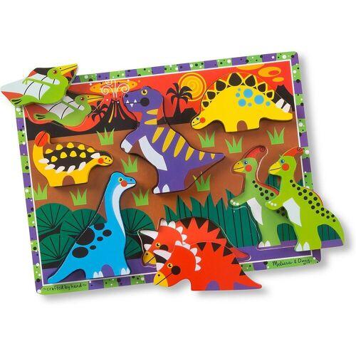 Melissa & Doug Steckpuzzle »Holzklotz-Puzzle Dinosaurier, 7 Teile«, Puzzleteile