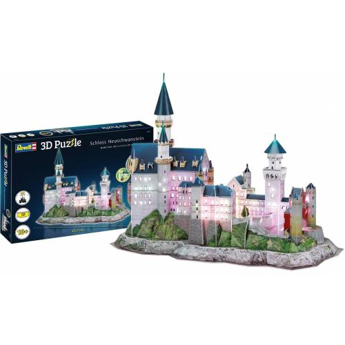 Revell® 3D-Puzzle »Schloss Neuschwanstein«, 128 Puzzleteile, LED-Edition