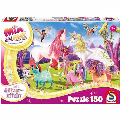 Schmidt Spiele Puzzle »Glitzerpuzzle 150 Teile Ankunft der Pony-Einhörner«, Puzzleteile