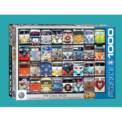 empireposter Puzzle »VW Volkswagen Bus Gesichter - 1000 Teile Puzzle im Format 68x48 cm«, 1000 Puzzleteile