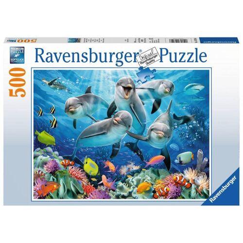 Ravensburger Puzzle »Delfine Im Korallenriff«, 500 Puzzleteile