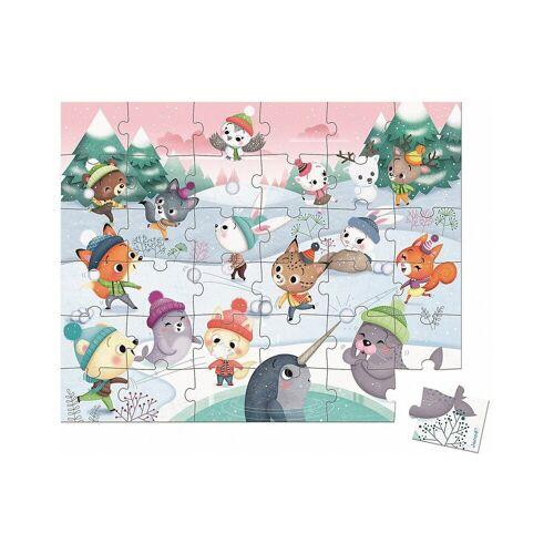 Janod Puzzle »Puzzle Schneeparty, 54 Teile«, Puzzleteile