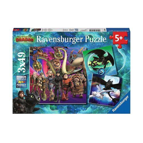 Ravensburger Puzzle »3er Set Puzzle, je 49 Teile, 21x21 cm, Dragons«, Puzzleteile