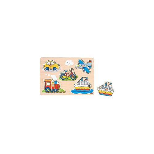 goki Steckpuzzle »Soundpuzzle Fahrzeuge«, Puzzleteile