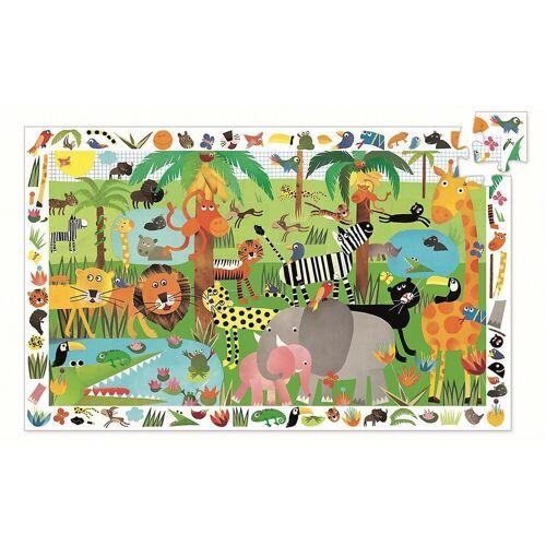 DJECO Puzzle »Wimmelpuzzle Dschungel, 35 Teile + Poster«, Puzzleteile