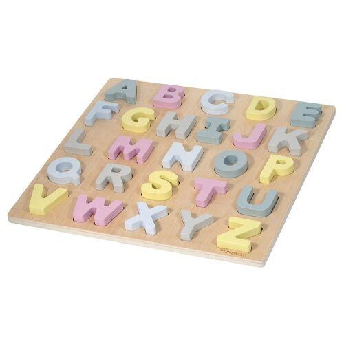 Kindsgut Puzzle, 26 Puzzleteile, ABC-Puzzle, Buchstaben, Alphabet, Motorik, Hanna, Buchstaben-Lern-Puzzle aus Holz für Babys und Kleinkinder, Hanna