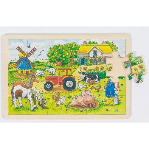 goki Puzzle »Holzpuzzle 24 Teile Müllers Farm«, Puzzleteile