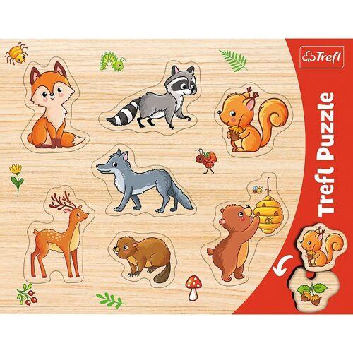 Trefl Puzzle »Konturenpuzzle - Wald, 7 Teile«, Puzzleteile