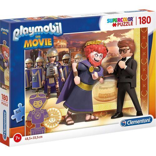 Clementoni® Puzzle »Puzzle 180 Teile Supercolor Playmobil the Movie«, Puzzleteile