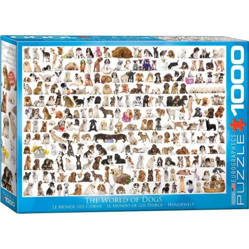 empireposter Puzzle »Hundewelt - Hunde - 1000 Teile Puzzle Format 68x48 cm.«, 1000 Puzzleteile