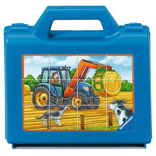 Ravensburger Würfelpuzzle »Fahrzeuge Auf Dem Bauernhof, Würfelpuzzle«, 12 Puzzleteile