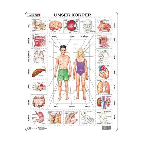 Larsen Puzzle »Rahmen-Puzzle, 35 Teile, 36x28 cm, Unser Körper«, Puzzleteile