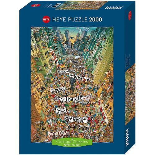 HEYE Puzzle »Puzzle Protest! Degano, 2000 Teile«, Puzzleteile