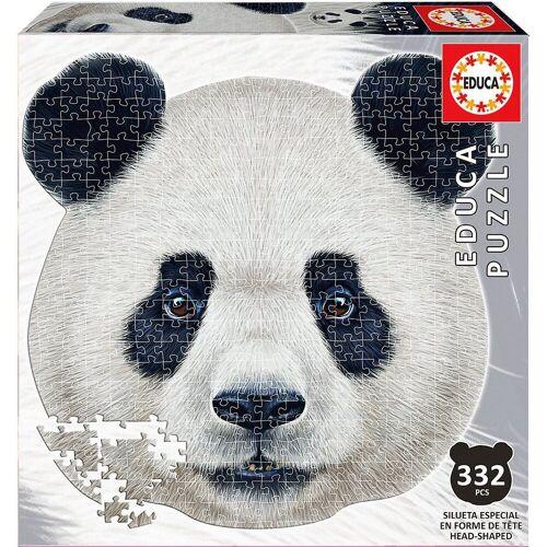 Educa Puzzle »Konturenpuzzle Pandagesicht, 400 Teile«, Puzzleteile