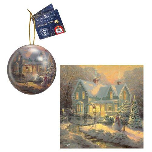 Schmidt Spiele Puzzle »Schmidt 59637 - Thomas Kinkade - Puzzle & Weihnach«, 100 Puzzleteile