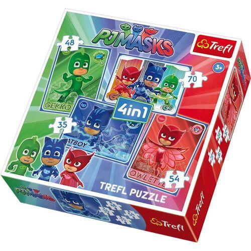 Trefl Puzzle »4in1 Puzzle - 35/48/54/70 Teile - PJ Masks«, Puzzleteile
