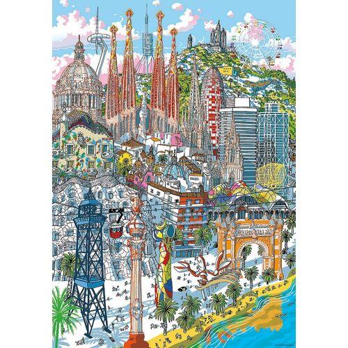 Educa Puzzle »Citypuzzle Barcelona, 200 Teile«, Puzzleteile