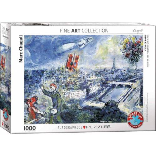 empireposter Puzzle »Marc Chagall - Ansicht von Paris - 1000 Teile Puzzle im Format 68x48 cm«, Puzzleteile