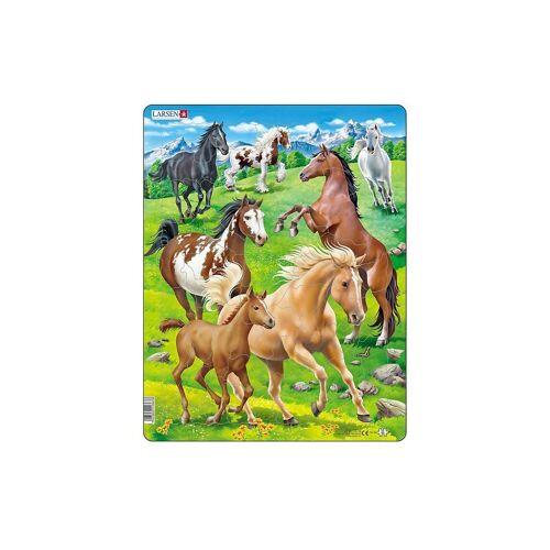 Larsen Puzzle »Rahmen-Puzzle, 65 Teile, 36x28 cm, Pferde«, Puzzleteile