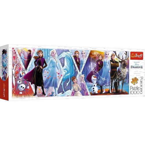 Trefl Puzzle »Panorama-Puzzle Frozen II, 1.000 Teile«, Puzzleteile