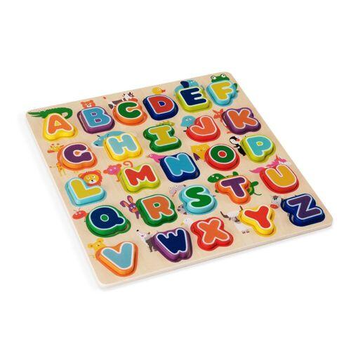 wuuhoo Puzzle »ABC-Puzzle aus Holz für Babys und kleine Kinder«, Puzzleteile