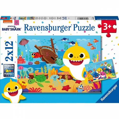 Ravensburger Puzzle »Puzzle Der kleine Baby Hai, 2x12 Teile«, Puzzleteile