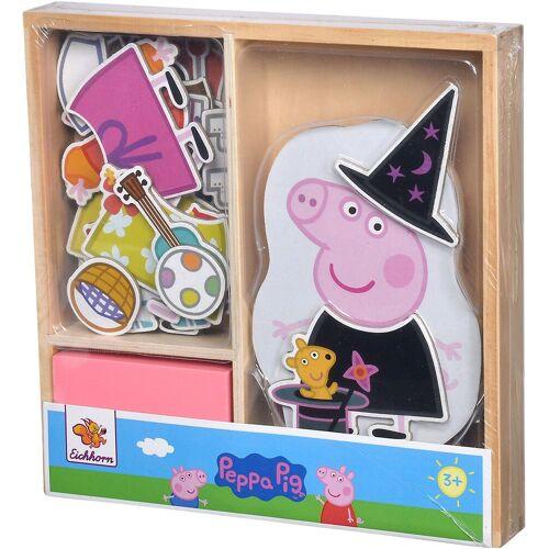Eichhorn Puzzle »Peppa Pig magnetisches Umzieh-Puzzle«, 32 Puzzleteile, FSC®-Holz aus gewissenhaft bewirtschafteten Wäldern