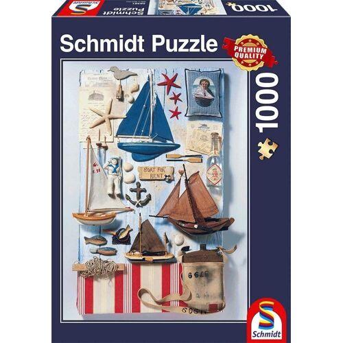 Schmidt Spiele Puzzle »Schmidt 58381 - Premium Quality - Maritimes Potpourri, 1000 Teile Puzzle«, 1000 Puzzleteile