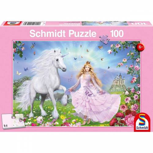 Schmidt Spiele Puzzle »Prinzessin der Einhörner, 100 Teile«, Puzzleteile