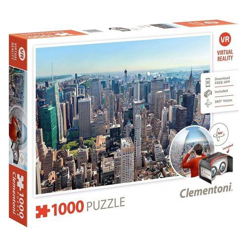 Clementoni® Puzzle »Clementoni 39401 - VR New York Puzzle, 1000 Teile«, 1000 Puzzleteile