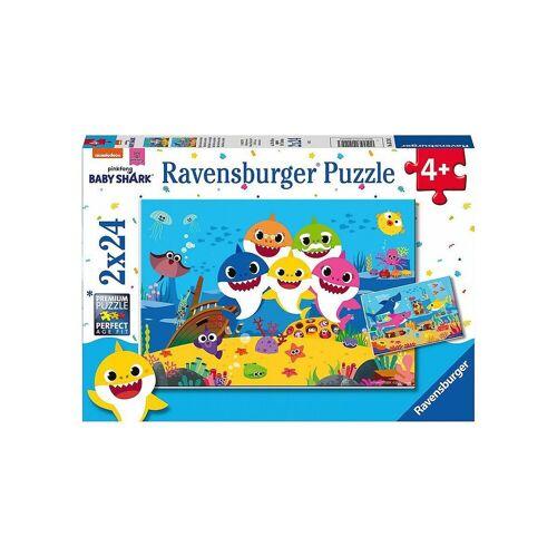 Ravensburger Puzzle »Puzzle Baby Hai und seine Familie, 2 x 24 Teile«, Puzzleteile