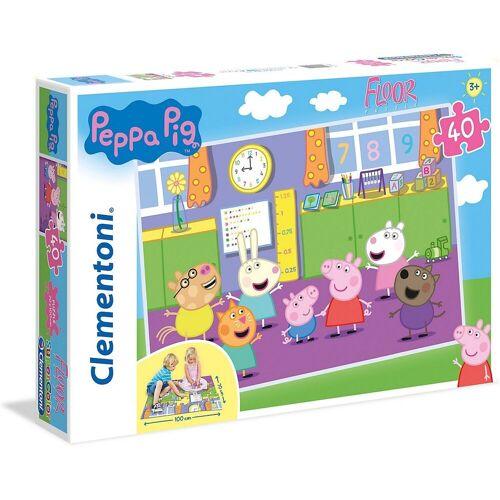 Clementoni® Puzzle »Puzzle 40 Teile, Bodenpuzzle - Peppa Pig«, Puzzleteile