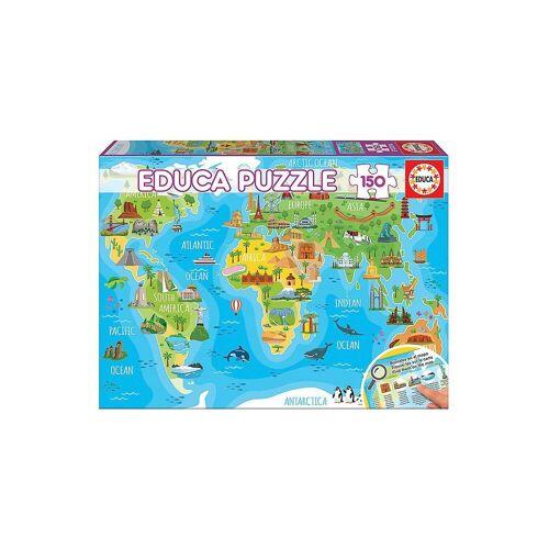 Educa Puzzle »Puzzle, 150 Teile, 48x34 cm Kontinente Bauwerke«, Puzzleteile