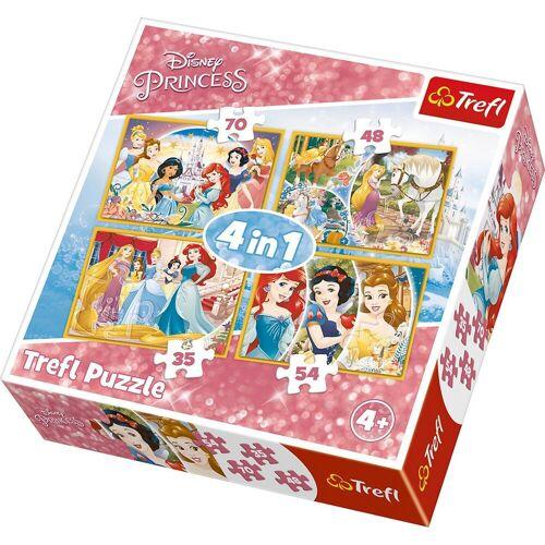 Trefl Puzzle »4in1 Puzzle 35/48/54/70 Teile - Disney Princess«, Puzzleteile