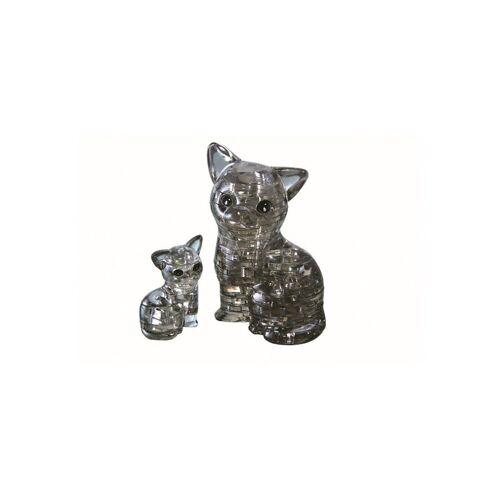 HCM KINZEL 3D-Puzzle »Crystal Puzzle - Katzenpaar«, Puzzleteile