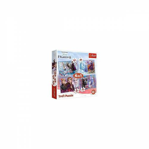 Trefl Puzzle »4in1 Puzzle 35/48/54/70 Teile - Frozen 2«, Puzzleteile