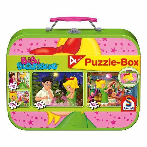 Schmidt Spiele Puzzle »Bibi Blocksberg Puzzle-Box, Metallkoffer 4 Puzzle«, 320 Puzzleteile