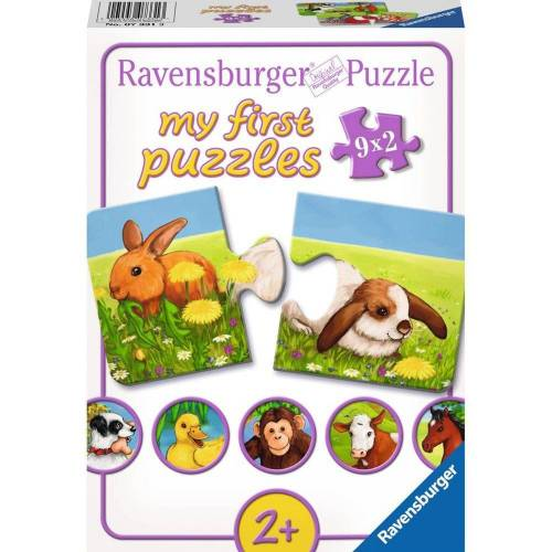 Ravensburger Puzzle »Liebenswerte Tiere, My First Puzzles«, 18 Puzzleteile