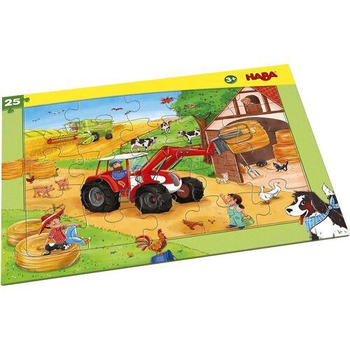 Haba Puzzle »Rahmenpuzzle 25 Teile Landmaschinen«, Puzzleteile